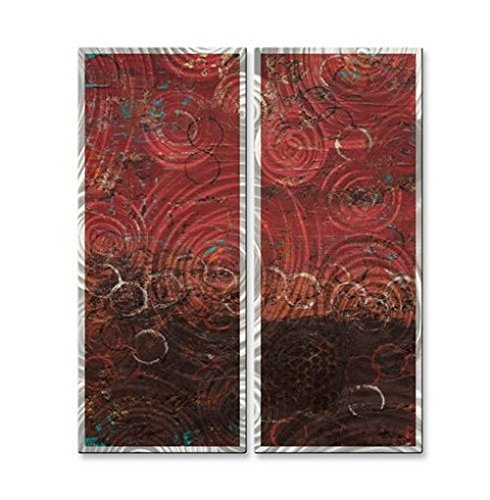 Metal Wall Art Sculpture Set Modern Abstract