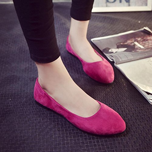 Longra 2018 Women's Summer Sandals,Spring Sandals Ladies Comfy Shoes Slip On Flat Shoes Hot Pink