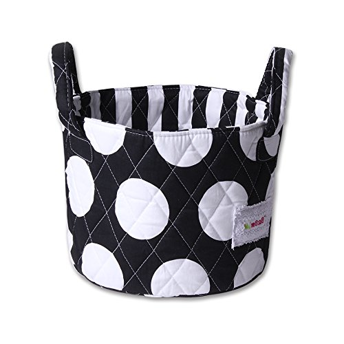 Minene Small Storage Basket, Black with Large White Spots 21170