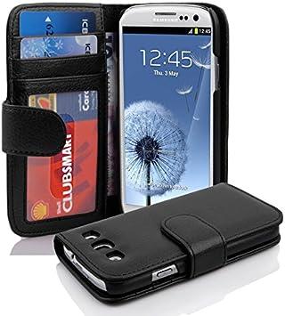 Cadorabo Funda Libro para Samsung Galaxy S3 / S3 Neo en Negro ÓXIDO - Cubierta Proteccíon con Cierre Magnético e 3 Tarjeteros - Etui Case Cover Carcasa: Amazon.es: Electrónica
