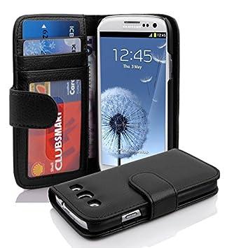 07dc06b058b Premium - Book Style Funda Estilo Cartera para Samsung Galaxy S3 y S3 Neo  (GT-I9300/GT-I9301) óxido de en Negro: Amazon.es: Electrónica