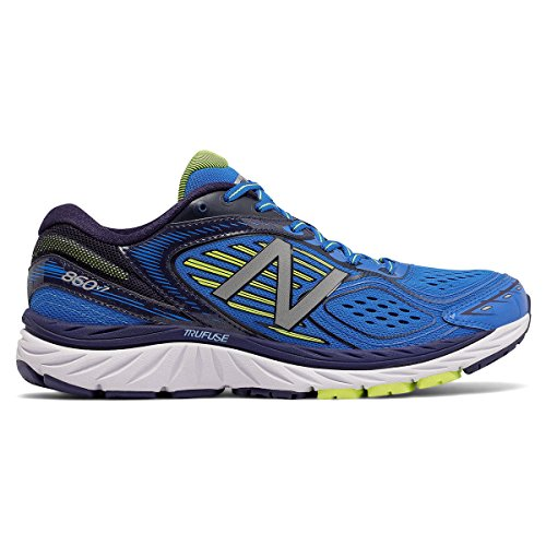 New Balance Men's M860BY7 Running Shoes, Blue/Yellow, 9 D US
