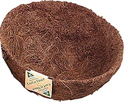 10-Inchx5-inch Natural Panacea 84166 Round Coco Fiber Replacement Liner