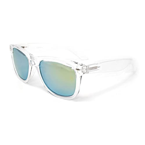 Frame ultra chiaro giallo lenti occhiali da sole lenti adulti classico stile occhiali da sole leggero acrilico donne Unisex uomini lenti riflettenti UV400