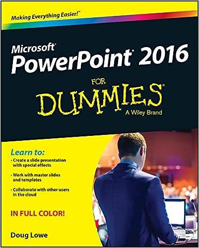 Powerpoint 2016 For Dummies 1 Doug Lowe Ebook Amazon
