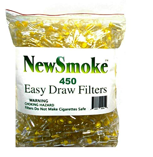 NEW SMOKE Disposable Cigarette Filters Bulk Economy Pack 300 plus 150 FREE BONUS FILTERS/Total 450 filters (Best Disposable Cigarette Filters)