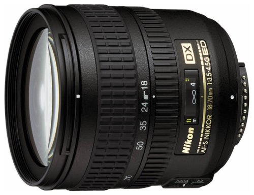 Nikon 18-70mm f/3.5-4.5G ED IF AF-S DX Nikkor Zoom Lens – White Box(Bulk Packaging)