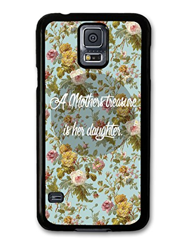 Mother Daughter Cute Quote on stylish Floral Design coque pour Samsung Galaxy S5