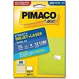 Etiqueta ink-jet/laser A5 multiuso Q1219 Pimaco, BIC, 874850, Branca, pacote de 12
