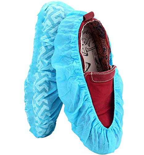 100 Pack Shoe Covers - Disposable Hygienic Boot Cover for Medical, Construction, Workplace, Indoor Carpet Floor Protection - Non-Slip by THETIS Homes by THETIS Homes (Image #4)