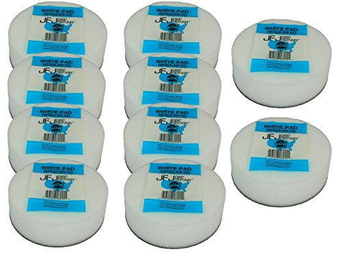 10 Pack Original JFJ White Pads for JFJ Single/Double Arm Machines