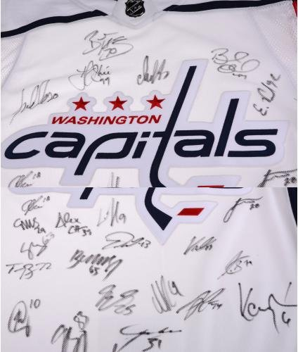 7ad90994ed6 Washington Capitals 2018 Stanley Cup Champions Autographed White Adidas  Authentic Jersey with 22 Signatures - Limited Edition of 100 - Fanatics  Authentic ...