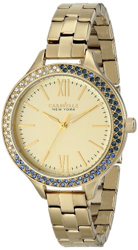 Caravelle New York by Bulova Women's 44L154 Analog Display Japanese Quartz Yellow Watch