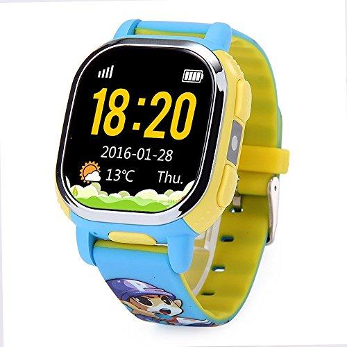 Tencent QQ Uhr GPS-Verfolger Wifi Lokalisierung Kinder Smart Watch Phone SMS Schritte Voice Chat für Kinder sicherer Sicherheits-SOS Alarm-Kamera Lokalisierung und Bild-Interaktion (Blau)