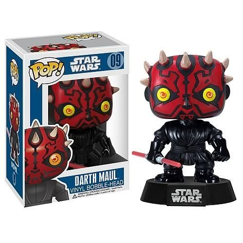 "Darth Maul: ~4"" Funko POP! Star Wars Vinyl Bobble-Head Figure w/ Stand"
