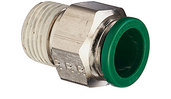 Parker 68PLS-10M-6G-pk20 Prestolok PLS Push-to-Connect Fitting Push-to-Connect and Male BSPP Connector 10 mm and 3//8 Pack of 20 Pack of 20 Tube to Pipe 316L Stainless Steel 10 mm and 3//8