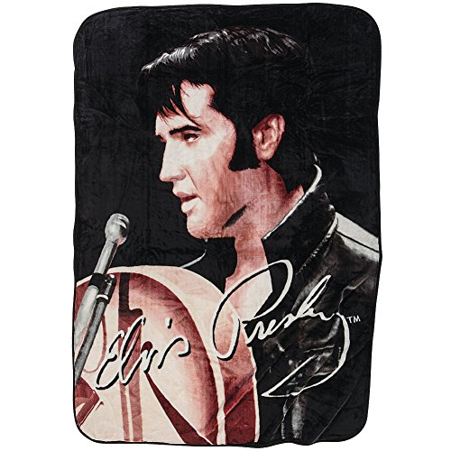 (Elvis Presley King Of Rock And Roll 1968 Comeback Special Throw Blanket)