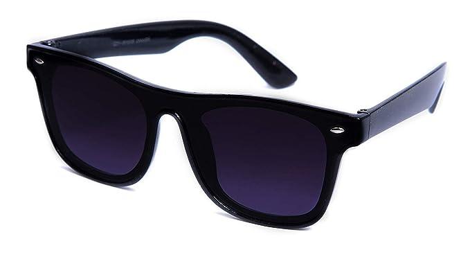b9982cfda88 Black Eagle Stylish New UniBody Lens Design Mirror UV Protected Goggles  Wayfarer Sunglasses For Men