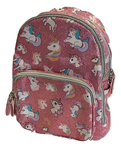 Bari Lynn Mini Unicorn Backpack Pink Glitter