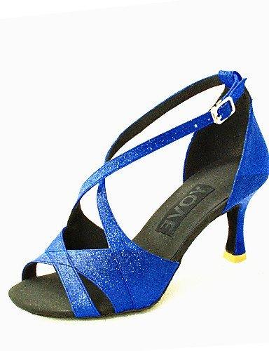 Hopea Naisten Kantapää Punainen Paillette Salsa Räätälöityjä Musta Hopea Shangyi Sininen Latinalaisen Muokattavissa Kulta Tanssikengät Zq4O4f