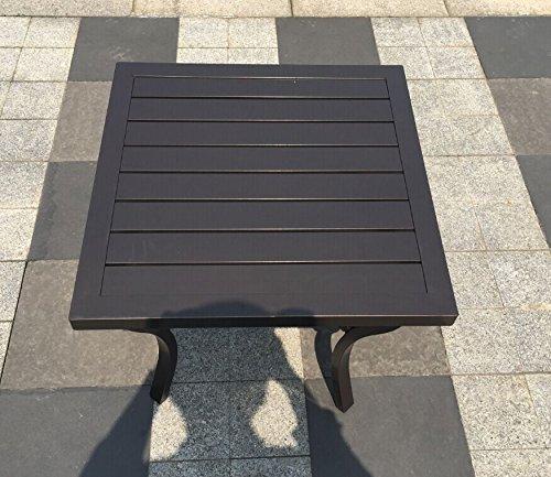 - Outdoor Aluminum Patio Side Table - Bronze