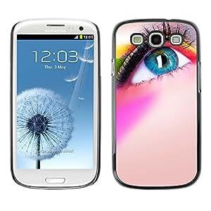SHIMIN CAO- Dise?o Caso duro de la cubierta Shell protector FOR Samsung Galaxy S3 I9300 I9308 I737- Eye Art pattern