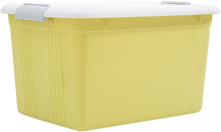 CKH Conjunto de Libros de la Ropa Caja de Almacenamiento Juguetes Grandes para el hogar Ropa Caja de clasificación de plástico Caja de la Caja de Almacenamiento Cubierta (Color : Yellow): Amazon.es: