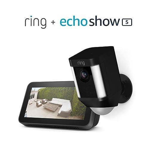 Ring Spotlight Cam Battery (Black) Bundle with Echo Show 5 (2nd Gen) | Amazon