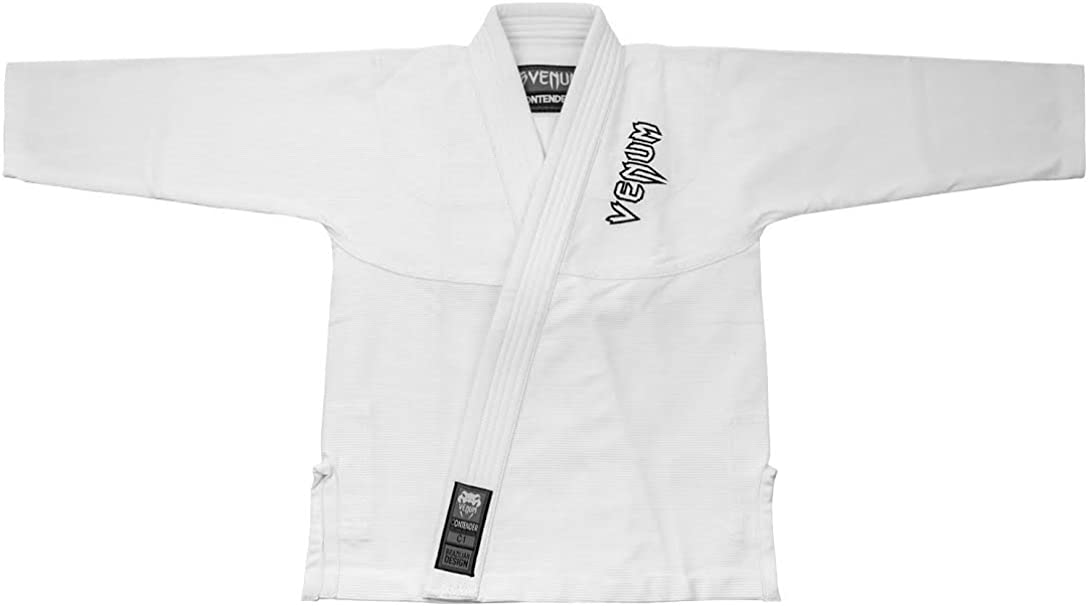 VENUM Contender Kimono BJJ Unisex Bambini Bianco C2