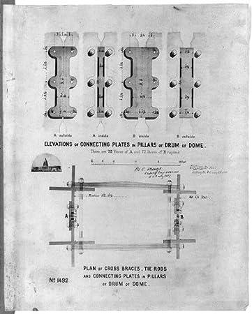 Amazon.com: HistoricalFindings Photo: Plan of cross braces ...