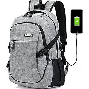 Laptop backpack for men back pack (grey)