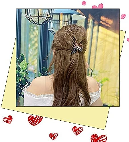 6Pcs Large Hair Clips, Hair Claw Clips Big Ponytail Holders Hair Clips Accessories Long Hair Jumbo Hair Claws Strong Hold Hair for Thick Hair Nonslip Women Girls