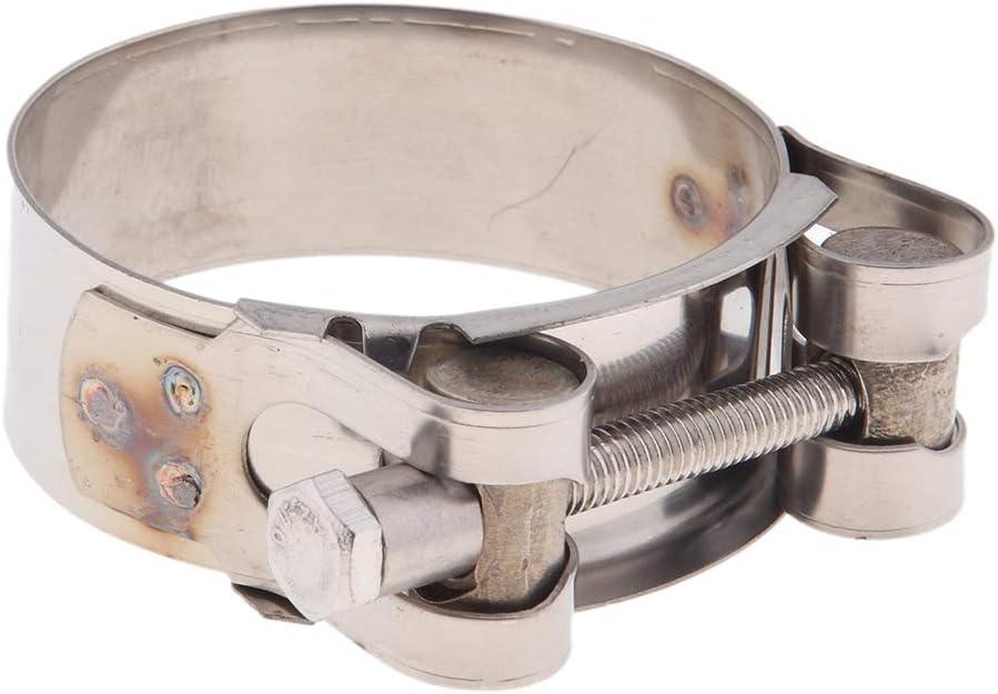 52-55mm H HILABEE Auspuffschelle Motorrad Auspuffklammer Clip Motorrad Auspuff Schalld/ämpfer Rohrschelle