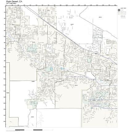 Amazon Com Zip Code Wall Map Of Palm Desert Ca Zip Code Map