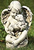 Roman 11.5″ Joseph's Studio Cherub Angel with Puppy Dog Outdoor Garden Statue Review