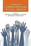 Handbook of Computational Social Choice