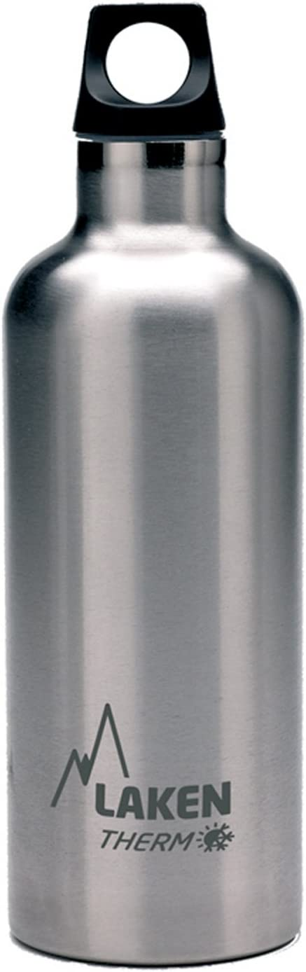Laken Futura Botella Térmica Acero Inoxidable 18/8 y Doble Pared de Vacío, Unisex adulto, Plateado, 500 ml