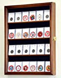 24 Collector NGC PCGS ICG Coin Slab Display Case Cabinet Holder Rack – Lockable, Walnut