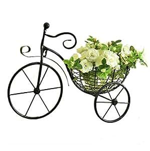 Creative bicicleta de hierro soporte de flor de pared colgar en la pared sala de estar balcón cesta de flores de colgar en la pared