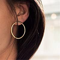 Nongkhai shop 1Pair Fashion Women Elegant Geometric Round Circle Ear Stud Earrings Jewelry New