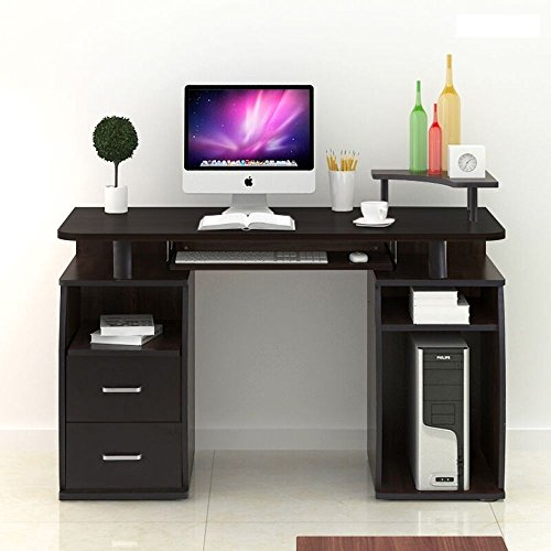 Computer Desk PC Table Workstation Monitor&Printer Shelf Home Office Furniture MRT SUPPLY