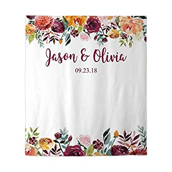 photo about Printable Backdrop called Allenjoy 50x60inside of Customizable Printable Floral Wedding day Backdrop Engagement Bridal Shower Pictures Backdrop Peach Plum Marriage Indicator Banner Social gathering