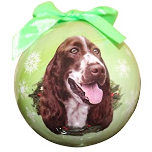 Springer Spaniel Christmas Ornament Shatter Proof Ball Easy To Personalize A Perfect Gift For Springer Spaniel Lovers 13