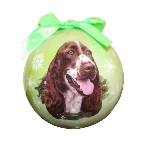 Springer Spaniel Christmas Ornament Shatter Proof Ball Easy To Personalize A Perfect Gift For Springer Spaniel Lovers 1