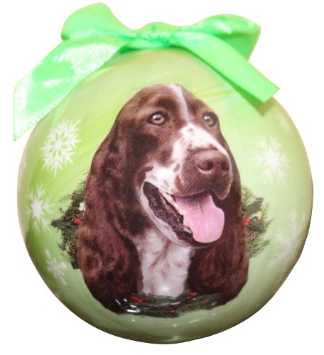(Springer Spaniel Christmas Ornament Shatter Proof Ball Easy To Personalize A Perfect Gift For Springer Spaniel Lovers)