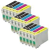 3 Compatibile Set di 4 + extra nero XL cartucce d'inchiostro da sostituire T1636 + T1631 / 16XL Series (15 inchiostri) per l'utilizzo in Epson Workforce WF-2010W, WF-2510WF, WF-2520NF, WF-2530WF, WF-2540WF, WF-2630WF, WF-2650DWF, WF-2660DWF