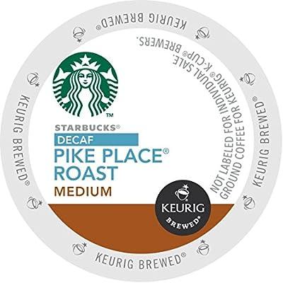Starbucks Decaf Pike Place Roast K-Cup for Keurig Brewers