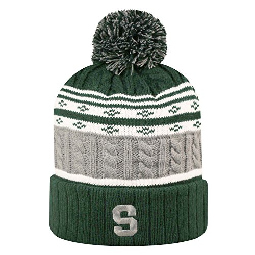 Michigan State Spartans Official NCAA Cuffed Knit Altitude Beanie Stocking Stretch Sock Hat Cap by Top of the World 811314
