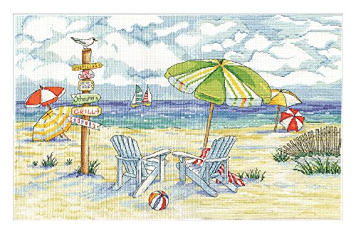 Tobin 2862 14 Count Beach Signs Counted Cross Stitch Kit, 11
