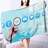 AmaPark Quick-Dry Bath Towel Medical science and technology Ideal for everyday use L63 x W31.2 INCH